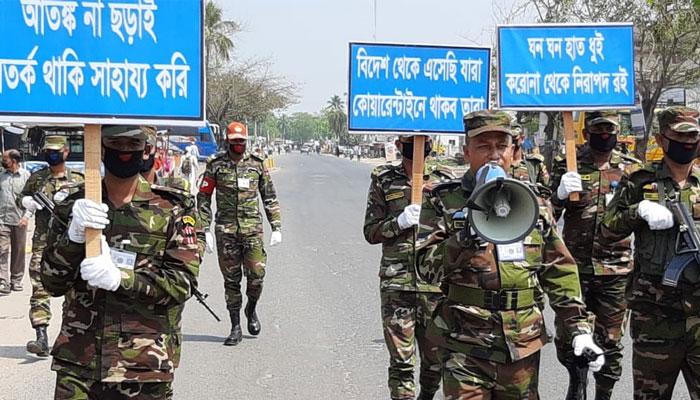 করোনা নিয়ন্ত্রণে ৬১ জেলায় কাজ করছে সেনাবাহিনী